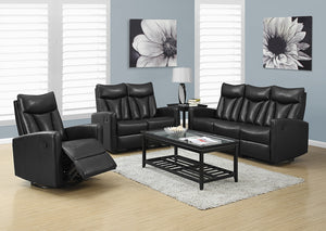RECLINING - ARMLESS BLACK BONDED LEATHER