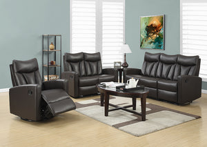 RECLINING - RIGHT FACING BROWN BONDED LEATHER