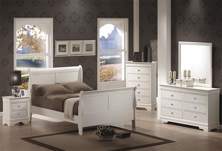 Louis Phillipe White Bedroom Set