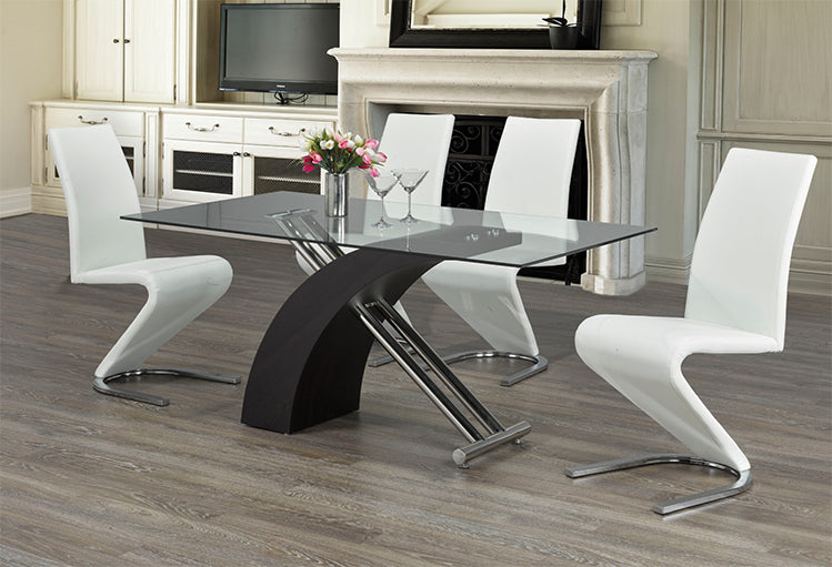 T 1046 / C 1085 - 7Pc Dining Set - Chrome Legs