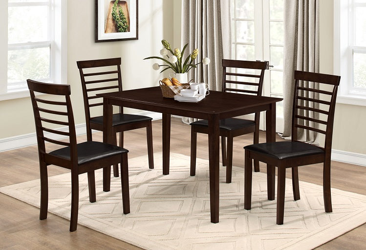 T 1047 / C 1011 - Dining Set 5 pcs - Espresso