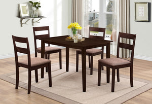 T 1047 / C 1033 - Dining Set 5 pcs - Espresso
