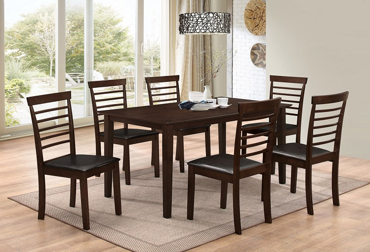 T 1048 / C 1011 - Dining Set 7 pcs - Espresso