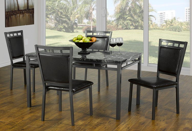 T 1230 / C 1231 - Dining Set 5 pcs - Marble Top
