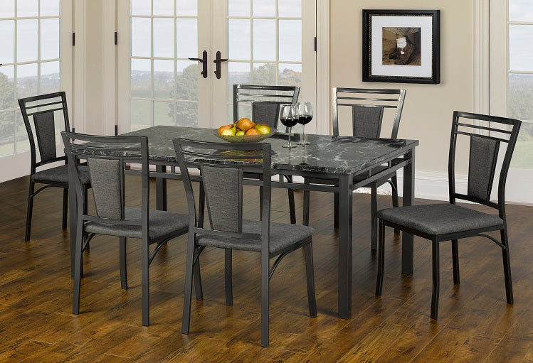 T 1240 / C 1242 - Dining Set 7 pcs - Marble Top