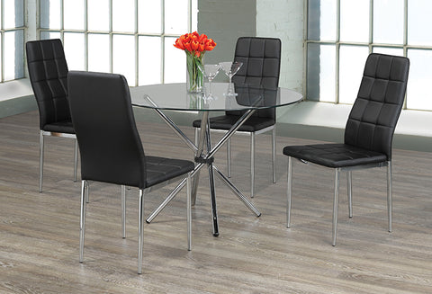 T 1430 / C 1770 – Dining Set 5 pc - Black