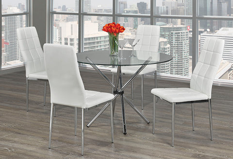 T 1430 / C 1771 – Dining Set 5 pc - White