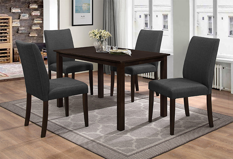 T 1730 / C 1660 – Dining Set 5pc - Espresso