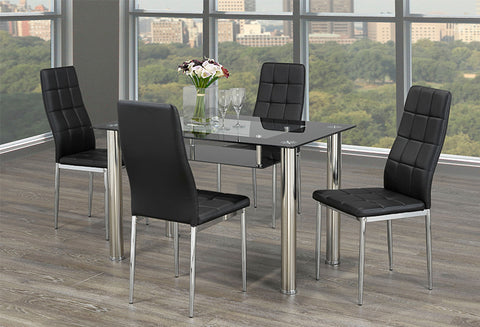 T 5069 / C 1770 – 5Pc Dining Set - Black