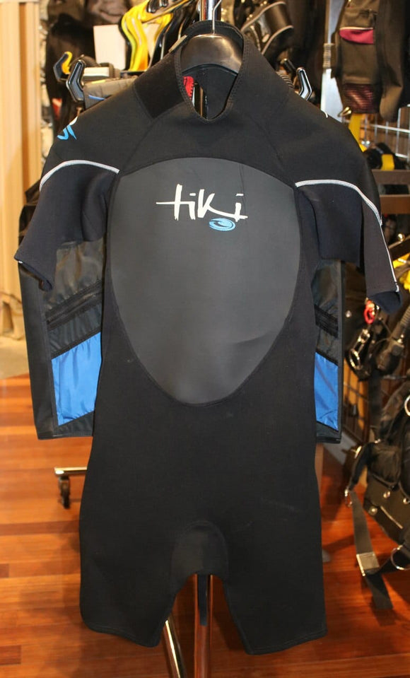 Tiki Mens 3MM Shorty Wetsuit Large (Fits Medium)
