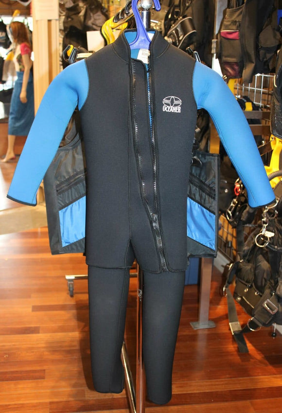 Oceaner Kids Custom 2Pc Wetsuit 7mm (Youth Small)