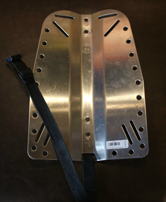 OMS Stainless Steel Backplate w-Crotch Strap (Used)