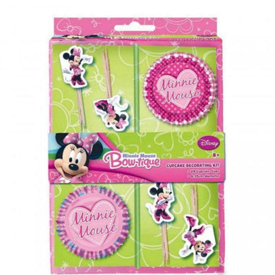 Minnie Mouse Cupcake Decoration Kit - 24 Cupcake Cases and Picks - The Base Warehouse