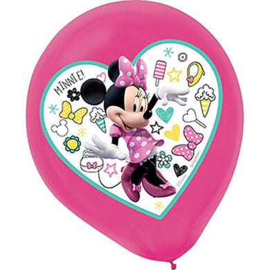 5 Pack Minnie Mouse Happy Helpers Latex Balloons - 30cm - The Base Warehouse