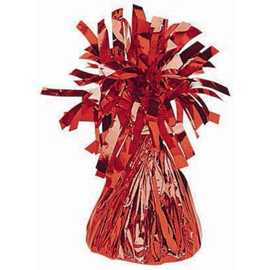Small Red Foil Balloon Weight - 170g - The Base Warehouse
