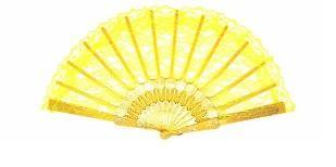 Yellow Lace Fan - The Base Warehouse