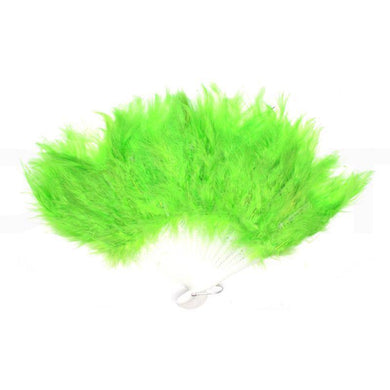 Light Green Feather Fan - The Base Warehouse
