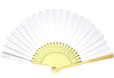 White Small Paper Fan - The Base Warehouse