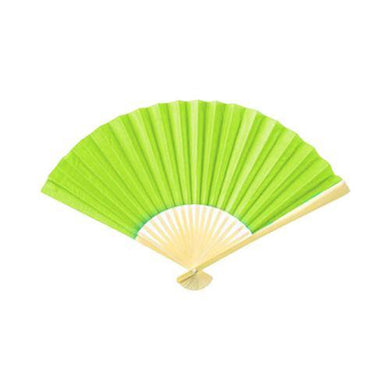 Green Small Paper Colour Fan - The Base Warehouse