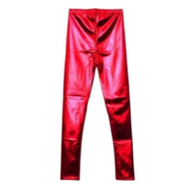 Red Metallic Leggings - The Base Warehouse