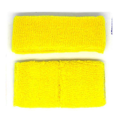 Yellow Headband & Wristband Set - The Base Warehouse