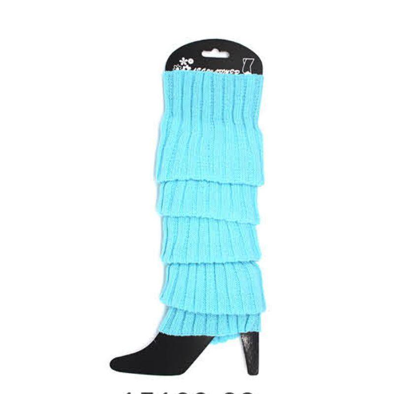 Light Blue Chunky Knit Leg Warmer