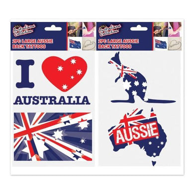 2 Piece Large Australia Day Body Tattoo - The Base Warehouse