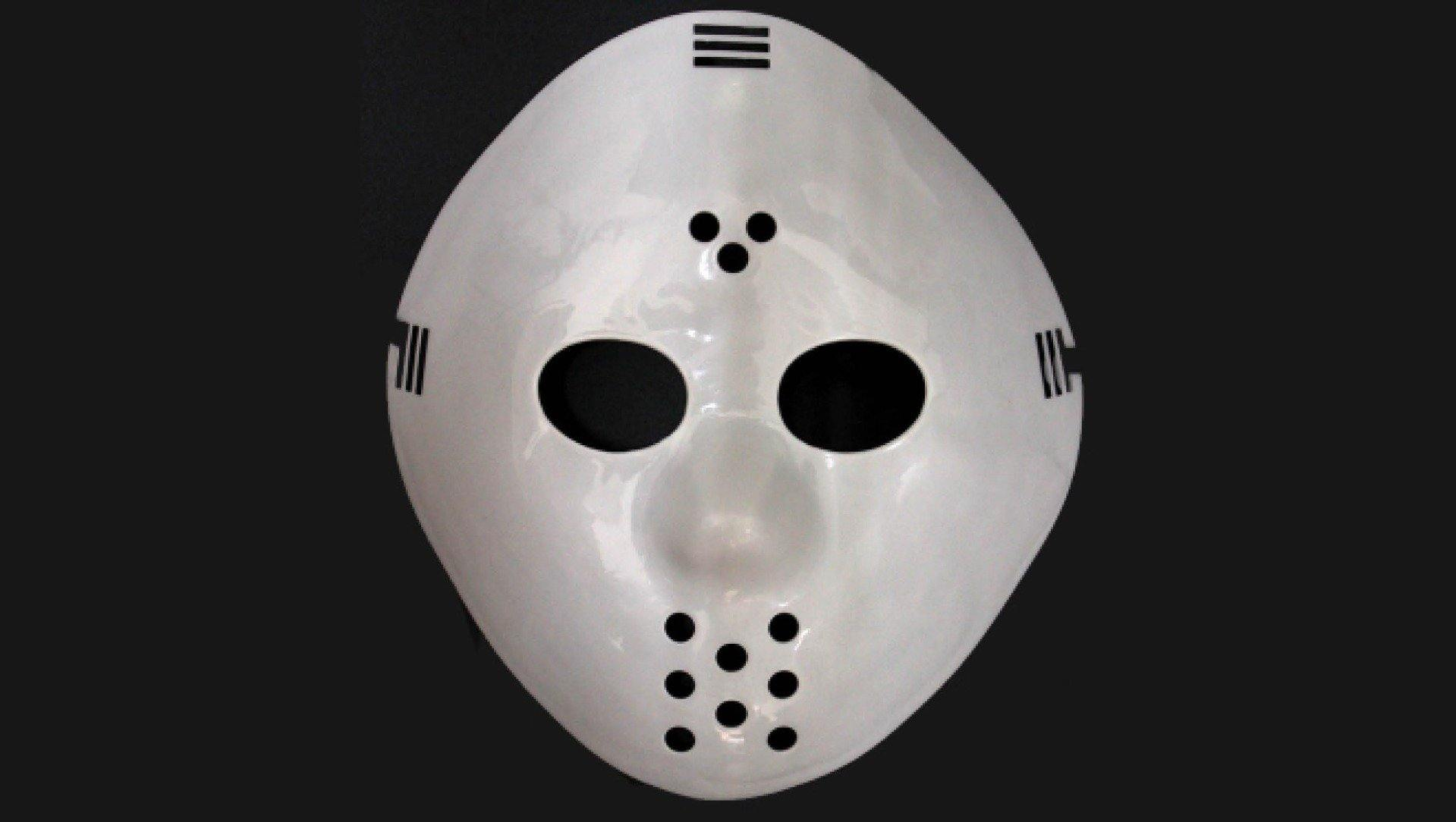 White Plastic Jason Mask
