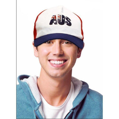 White/Red/Blue Australian Cap - The Base Warehouse