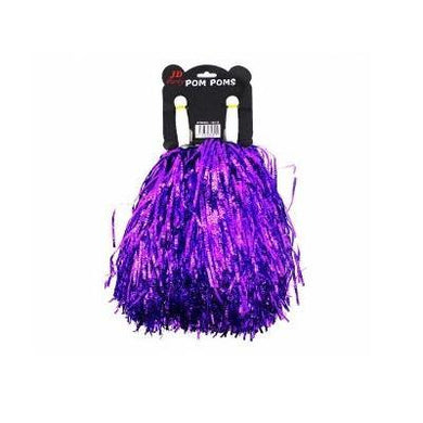 Metallic Purple Crinkly Pom Pom - The Base Warehouse