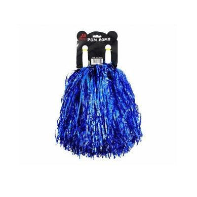 Metallic Blue Crinkly Pom Pom - The Base Warehouse