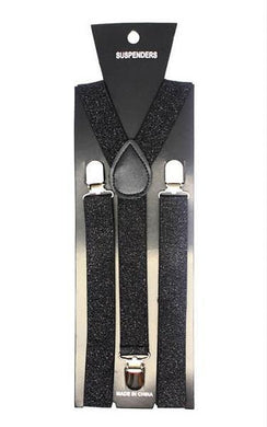 Black Glitter Suspender - The Base Warehouse