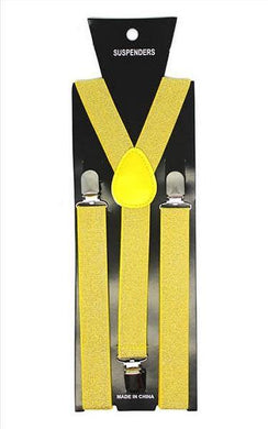 Yellow Glitter Suspender - The Base Warehouse