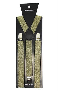 Black & Gold Glitter Suspender - The Base Warehouse