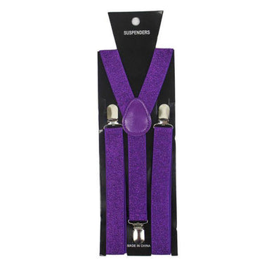 Purple Glitter Suspender - The Base Warehouse