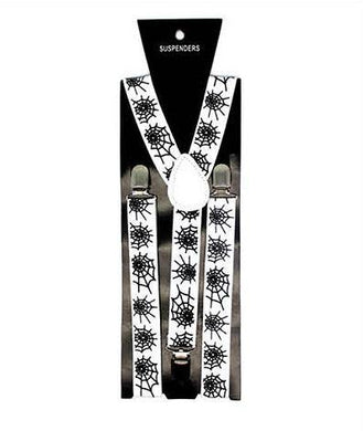 White Suspender with Black Webs - The Base Warehouse
