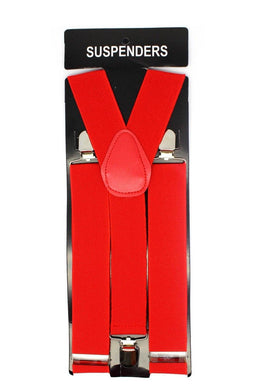 Red Wide Suspenders - The Base Warehouse