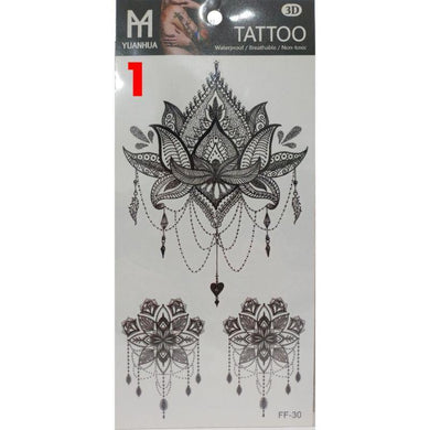 24 Assorted Design Fashion Tattoos - 19cm x 9cm - The Base Warehouse