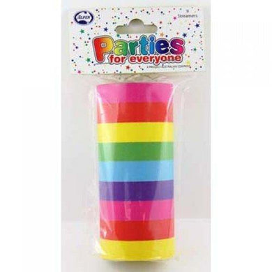 9 Pack Rainbow Streamers - 14m - The Base Warehouse