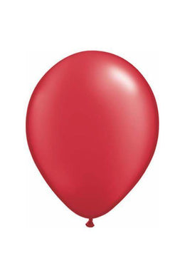 20 Pack Metallic Red Latex Balloons - The Base Warehouse