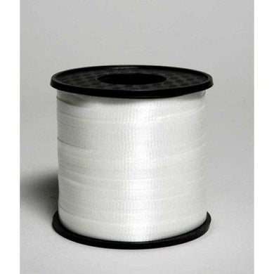 White Curling Ribbon Rolls - 5mm x 460m - The Base Warehouse
