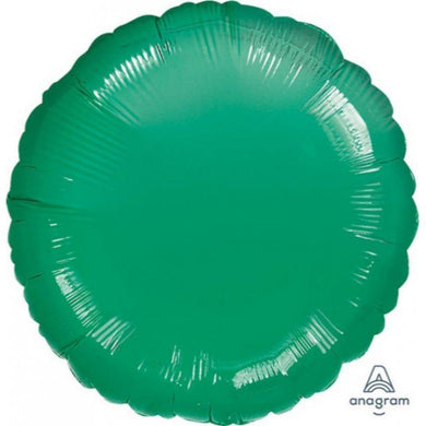 Metallic Green Circle Foil Balloon - 45cm - The Base Warehouse