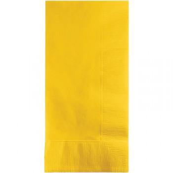 50 Pack School Bus Yellow Dinner Napkins - 40cm x 40cm