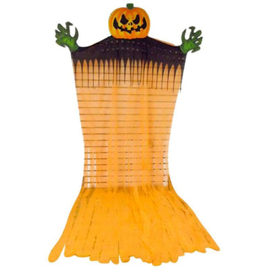 Scary Pumpkin Ghoul Hanging Prop with Light Up Eyes - 3.5m x 2m - The Base Warehouse