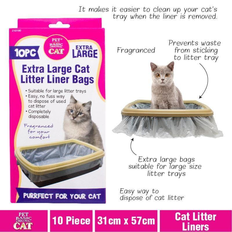 10 Pack XL Cat Litter Liners - 31cm x 57cm - The Base Warehouse