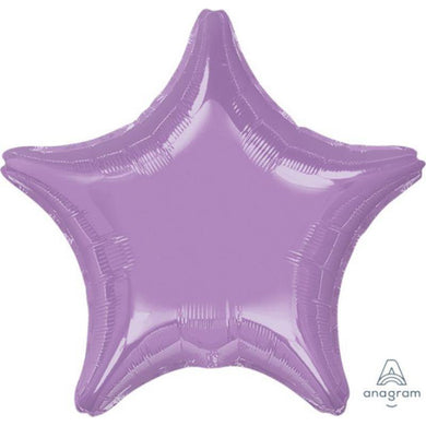 Pearl Lavender Star Foil Balloon - 45cm - The Base Warehouse