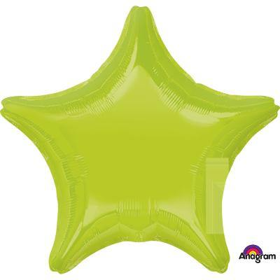 Kiwi Green Star Shaped Foil Balloon - 45cm
