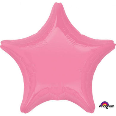 Bright Bubble Gum Star Foil Balloon - 45cm - The Base Warehouse