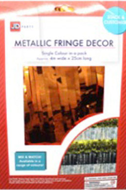 Metallic Orange Fringe Decor - The Base Warehouse