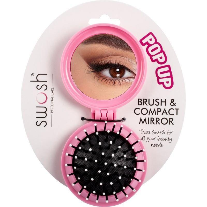 Brush & Compact Mirror